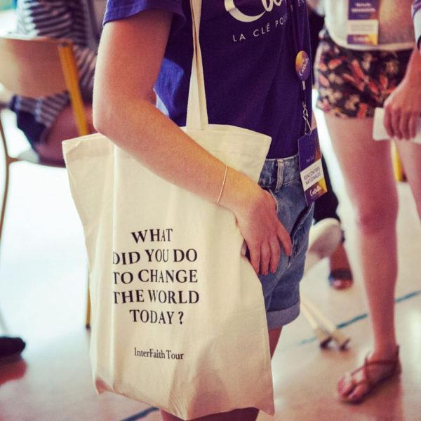 Tote Bag Blanc - What did you do to change the world today ?